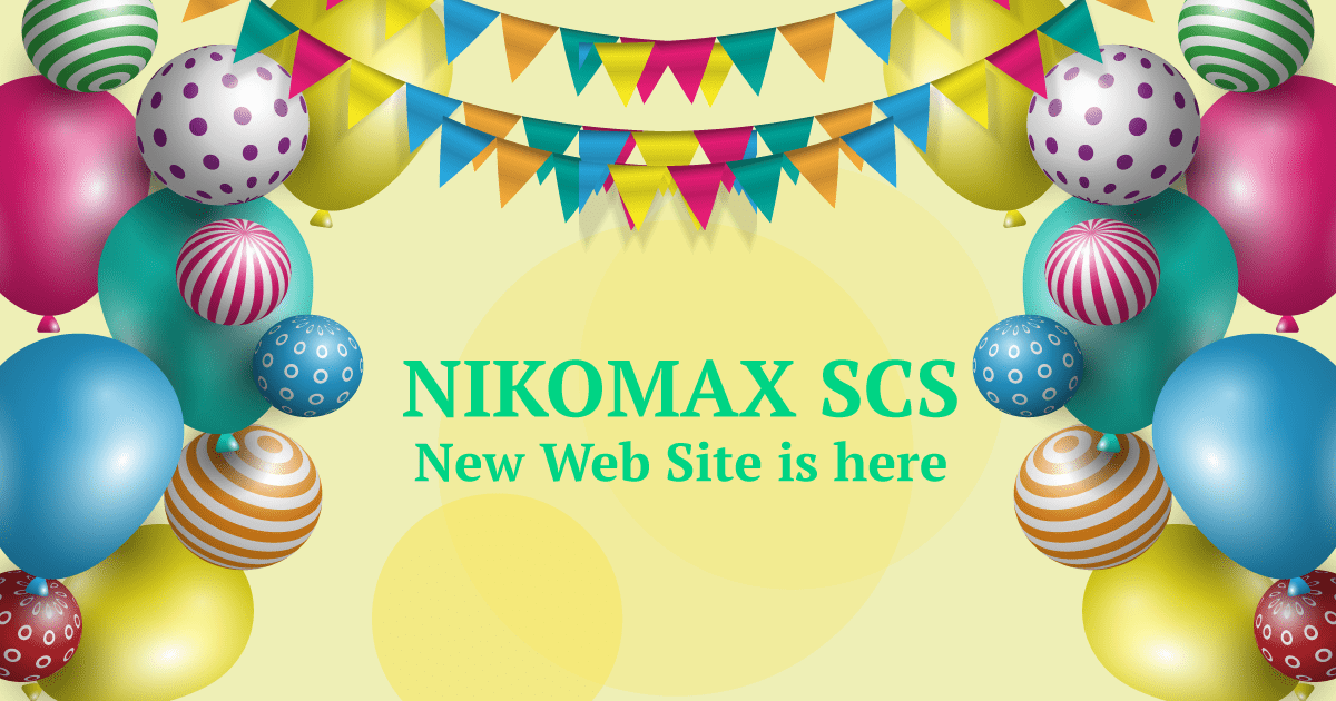 Welcome to new NIKOMAX site!!!